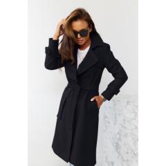 Εντυπωσιακό παλτό με φόδρα 5415  μαύρο