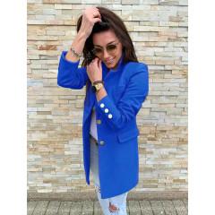 Γυναικείο σακάκι με χρυσά κουμπιά 5016 μπλε