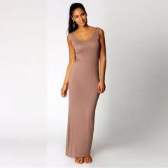 Γυναικείο φόρεμα 12106 καφέ