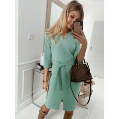 Γυναικείο φόρεμα με τρουξ και ζώνη 3978 μέντα