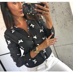 Γυναικείο πουκάμισο 327701 μαύρο