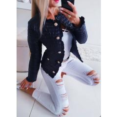 Γυναικείο ανοιξιάτικο μπουφάν 5520 μαύρο