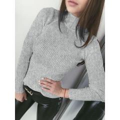 Γυναικεία μπλούζα ζιβάγκο 81026 γκρι