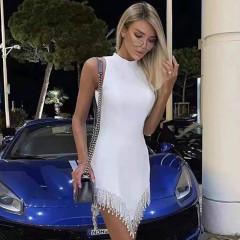 Γυναικείο εντυπωσιακό φόρεμα 21911 άσπρο
