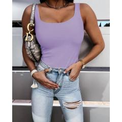 Γυναικείο απλό μπλουζάκι 5520 μωβ