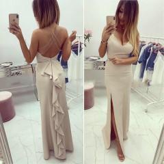 Γυναικείο φόρεμα 7823 μπεζ