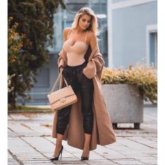 Γυναικείο παντελόνι δερματίνης 9283 μαύρο