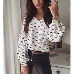 Γυναικεία μπλούζα με print 395701