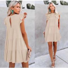 Γυναικείο χαλαρό φόρεμα 5095 μπεζ