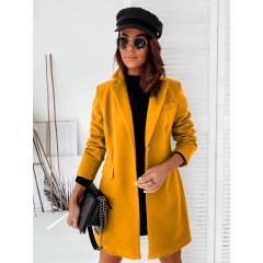 Γυναικείο κομψό παλτό 8690 μουσταρδί