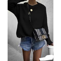 Γυναικείο πουλόβερ 00701 μαύρο