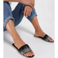 Γυναικείες στιλάτες παντόφλες 120901 μαύρο
