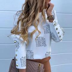 Γυναικείο πουκάμισο με χρυσά κουμπιά 382002