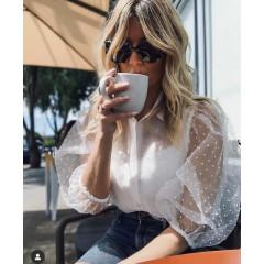 Γυναικείο πουκάμισο με αμάνικο 9502 άσπρο