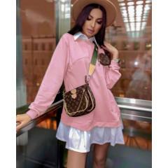 Γυναικείο μπλουζοφόρεμα 5462 ροζ