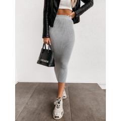 Γυναικεία ελαστική φούστα 4043 γκρι