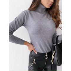 Γυναικεία μπλούζα ζιβάγκο 600901 γκρι