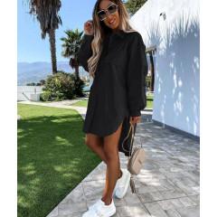 Γυναικείο χαλαρό πουκάμισο 5538 μαύρο