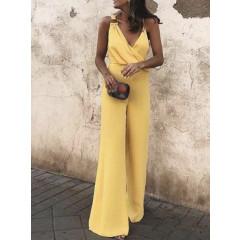 Γυναικεία ολόσωμη φόρμα 88332 κίτρινη