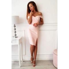 Γυναικείο φόρεμα 09236 ροζ