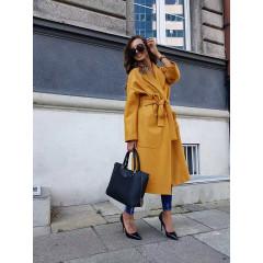 Γυναικείο παλτό 532501 κίτρινο