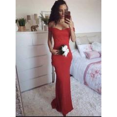 Γυναικείο φόρεμα 9698 κόκκινο