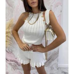 Γυναικείο σετ τοπάκι και παντελόνι 4530 άσπρο