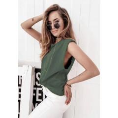 Γυναικείο αμάνικο μπλουζάκι 71521  χακί