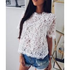 Γυναικεία μπλούζα 100100 λευκή