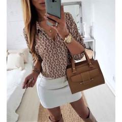 Γυναικείο πουκάμισο 3766 καφέ