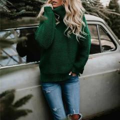 Γυναικείο πουλόβερ ζιβάγκο 00499 πράσινο