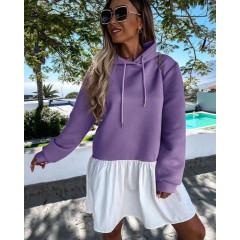 Γυναικείο μπλουζοφόρεμα 5540 μωβ