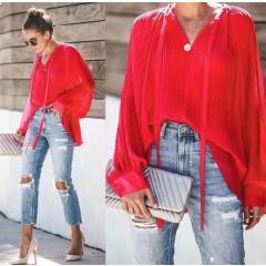 Γυναικεία μπλούζα σολέϊ 3717 κόκκινη