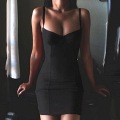 Γυναικείο φόρεμα 2247 μαύρο