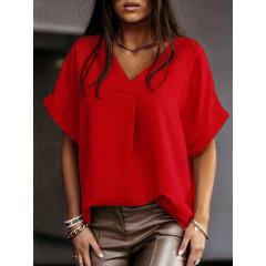 Γυναικεία χαλαρή μπλούζα 5597 κόκκινη