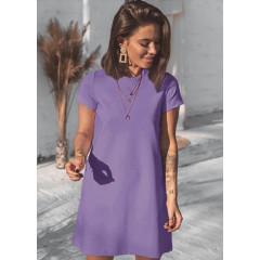 Γυναικείο μπλουζοφόρεμα 5166 λιλά