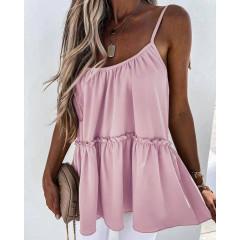 Γυναικείο τοπάκι με κορδόνια 5645 ροζ