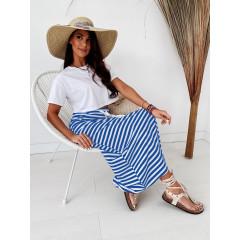 Γυναικείο σετ φούστα και μπλούζα 2503 μπλε