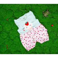 Βρεφική ολόσωμη φόρμα φράουλα 50515549 γαλάζια