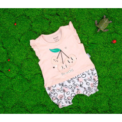 Βρεφική ολόσωμη φόρμα κερασάκι 50515538 ανοιχτό ροζ