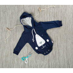 Βρεφικό κορμάκι αρκουδάκι 5055230 σκούρο μπλε