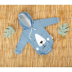 Βρεφικό κορμάκι αρκουδάκι 5055230 μπλε