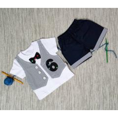 Βρεφικό σετ κοντομάνικο και παντελονάκι 50509642 σκούρο μπλε