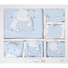 Βρεφικό σετ νεογέννητου 10τμχ. 505137 μπλε
