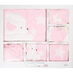 Βρεφικό σετ για νεογέννητο 10τμχ. αρκουδάκι 505143 ροζ