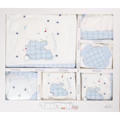 Βρεφικό σετ νεογέννητου 10τμχ. 505137 άσπρο/μπλε