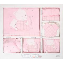 Βρεφικό σετ νεογέννητου 10τμχ. 505137 ροζ