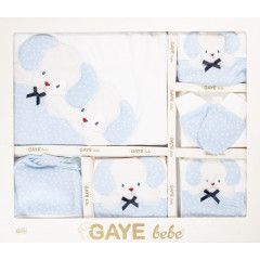 Βρεφικό σετ για νεογέννητο 10τμχ. σκυλάκι 50500670 μπλε