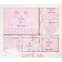Βρεφικό σετ για νεογέννητο 10τμχ. φλαμίνγκο 505673 ροζ