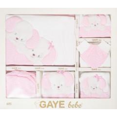 Βρεφικό σετ για νεογέννητο 10τμχ. σκυλάκι 50500670 ροζ